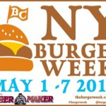 NY Burger week runs from May 1st until May 7th.