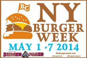 NY Burger week will be taking place from May 1st until May 7th.